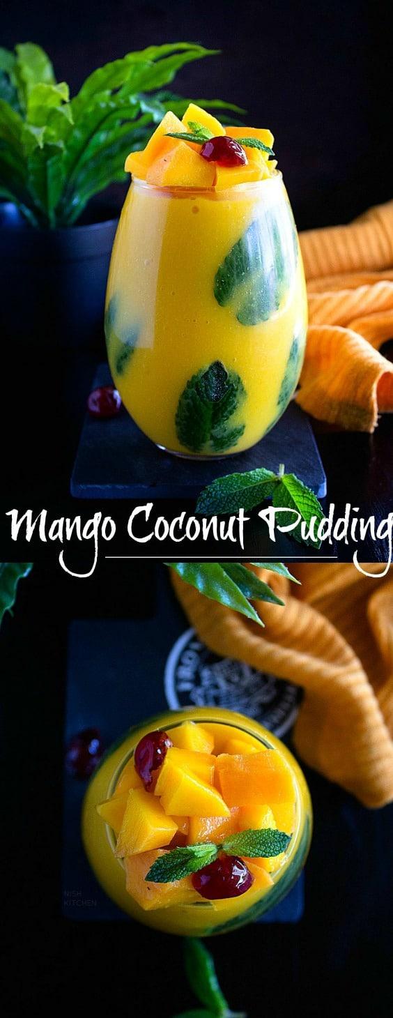 Thai mango coconut pudding