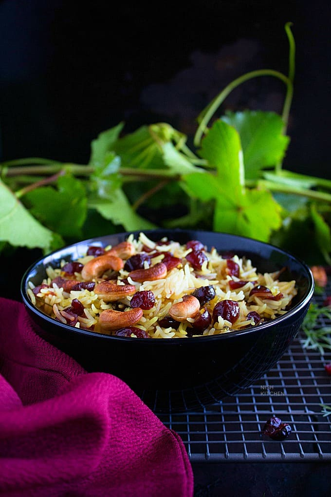 rice and cranberries