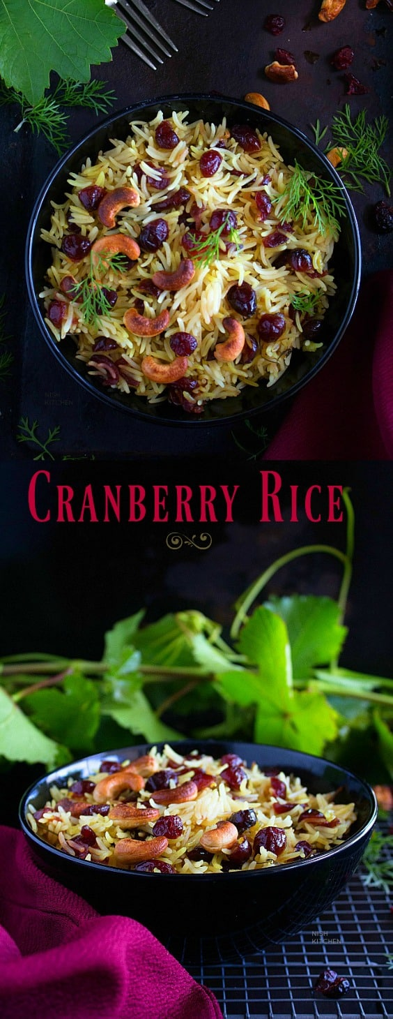Quick and easy cranberry rice